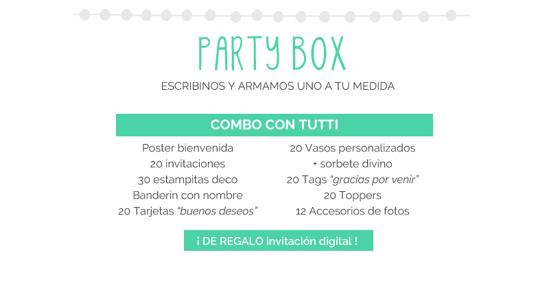 Party Box Bautismo, Comuninión, Confirmación